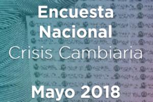 Encuesta nacional mayo 2018 – Crisis cambiaria